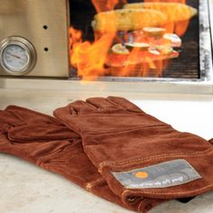 Leather Grill Glove Set ($18): Protect your grill masters' hand from the hot pit with a tough leather mitt.