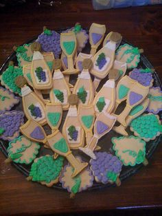 Wine themed cookie tray.