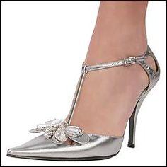 Silver...40's style heels... elegant foot wear for silver wedding anniversary!