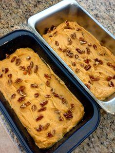 Pecan Pumpkin Bread with Warm Caramel Glaze by MySweetMission.net