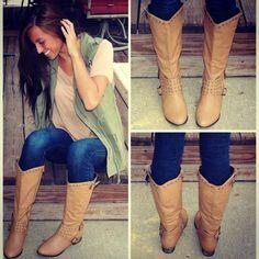 Beige Fall Boots from Monica's Closet Essentials