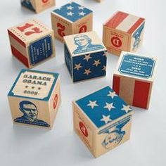 handcraft presid, presid block, kid gifts, envelopes, baby gifts, wood blocks, kids, gift idea, the block