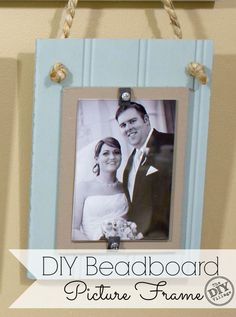 DIY beadboard picture frame tutorial.  Make frames for less than 1/4 cost of the ones in stores!