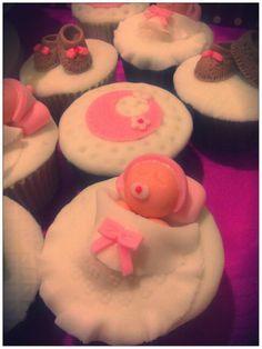 Cupcakes Marmoleados con figuras 3D de fondant :-D