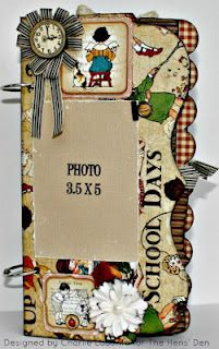 Mini Album using Graphic 45's An ABC Primer.. From The Hens' Den