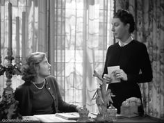 """the morning room - joan fontaine and judith anderson, """"rebecca""""(http://www.gonemovies.com/www/Pictures/Pictures/Rebecca6.jpg)"""