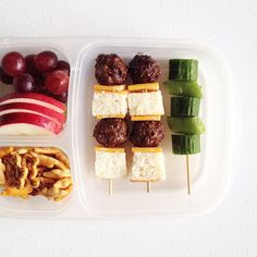 Meatball slider on a stick = lunch. #bento
