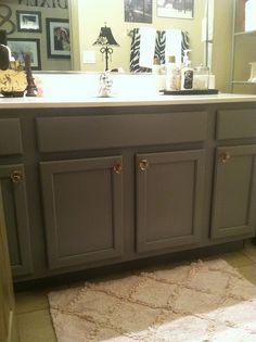 Builder grade upgrades on pinterest builder grade oak for Bathroom cabinets update ideas