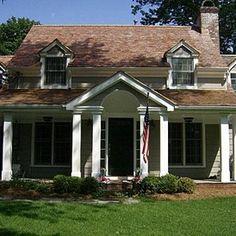 peaked porch