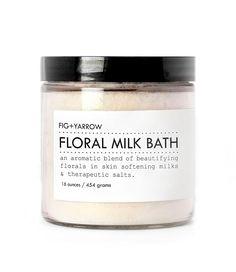 floral milk bath | Fig and Yarrow.