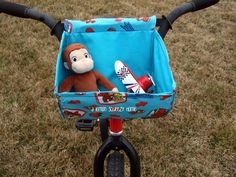 Bike basket - might need to make one for EazyC's tricycle so he can ride around during clean up time.