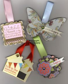 Chipboard Bookmarks by Michelle Reynolds via Stampin' Connection!!