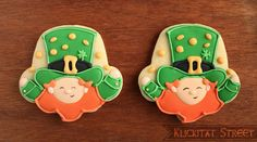 St. Patrick's Day Cookies from a Cupcake Cutter