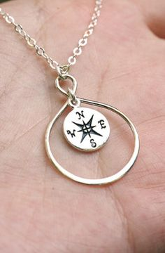 Infinity compass necklace.