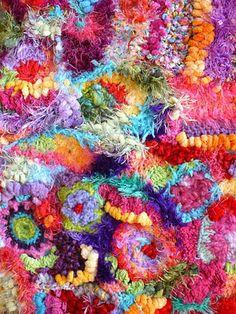 notebook, color, freeform crochet