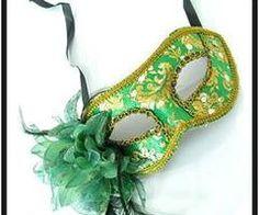 green mask, mardi gras