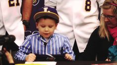 """""""The baseball team at Lipscomb University in Nashville, Tenn., has added a five-star recruit: 5-year-old Brooks Russell. Brooks, the oldest of Cody and Kari Russell's three children, is battling a brain tumor."""""""