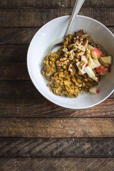 bowl of pumpkin oats