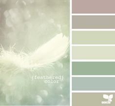 Feathered Tints ~ Design Seeds color palettes, design seeds, color schemes, soft colors, bathroom designs, master bedrooms, paint colors, colour palettes, feather