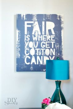FaiR is where you get cotton candy sign - so fun!
