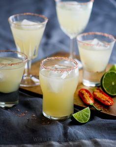Spicy Chili Margarita with Paprika Salt- A great cocktail recipe on WhiteOnRiceCouple.com
