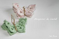♡ Srta Pomelo DIY: DIY: mariposas de crochet.