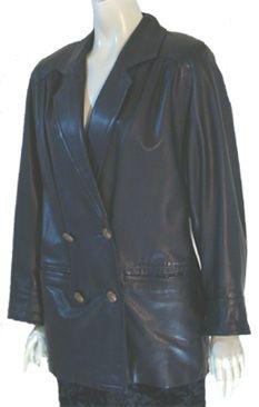 Accensi 80s Black Leather Jacket