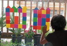 classroom idea, clear easel, castles, buildings, build castl, children craft, foam piec, foam art, crafternoon idea