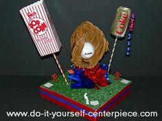 baseball party centerpieces