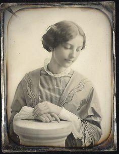 Miss Hodges of Salem, c. 1850, daguerreotype; photographer: Josiah Johnson Hawes (1808-1891)