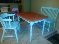 Painted kids table
