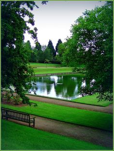 Over The Water In The Great Garden,    Newstead Abbey, Nottingham