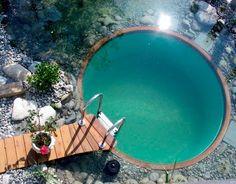 livestock tank in ground pool.