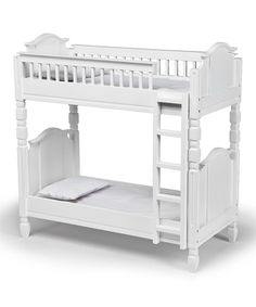 Take a look at this White Doll Bunk Bed Set by Laurent Doll on #zulily today!