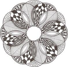 Zentangle made by Mariska den Boer 03 - inspiration