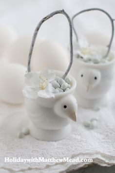 Egg cups aren't just for eggs.  www.HolidaywithMatthewMead.com