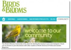 Join the Conversation on Community! birdsandblooms.com