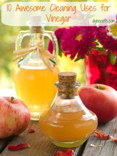 10 Awesome Cleaning Uses for Vinegar Nearly every home in the world has at least a little jar of vinegar. Even if you don't normally cook with it, you may just have a bit stuck in the cabinet for some reason.