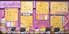 girl birthday layout