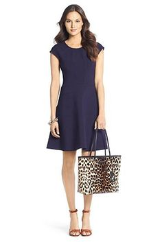 Rebecca Ceramic Flirty Dress In Bright Ink