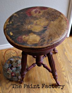 chalk paint, antiqu piano, piano stool, paint furnitur