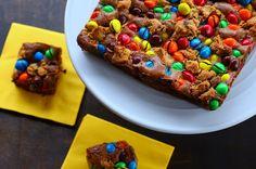 bos bowl, birthday, peanuts, browni bite, food, brownie bites, parti idea, peanut butter brownies, bowls