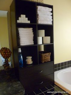 Joyful Homemaking: Bathroom Storage Solution