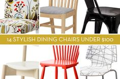 Shopping Guide: 14 Stylish Dining Chairs Under $100 » Curbly | DIY Design Community
