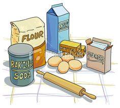 Baking Ingredients Clipart recipe scrapboo...