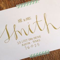 Wedding Calligraphy Envelope Addressing by mintandmapledesigns