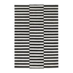 "STOCKHOLM Rug, black and white - 5 ' 7 x 7' 10"" $300"