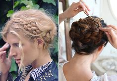 Both of these updo's are to die for. They are so stunning, they seriously take my breath away. Will try to make something like that myself soon!  You can find this blogpost at Honestly...WTF