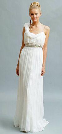 Greek theme on pinterest greek wedding greece wedding for Greek wedding dress designers