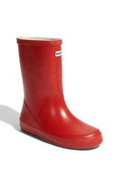 Red Hunter boots: just as cool in any size. (And psst...the fleece liners let them double as toasty snow boots.)